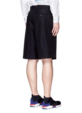 Back View - Click To Enlarge - Marni - Wide leg jacquard shorts