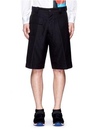 Main View - Click To Enlarge - Marni - Wide leg jacquard shorts