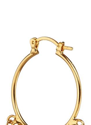 Detail View - Click To Enlarge - Venessa Arizaga - 'Shiny Happy People' hoop earrings