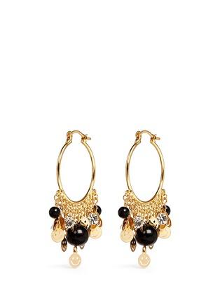 Main View - Click To Enlarge - Venessa Arizaga - 'Shiny Happy People' hoop earrings