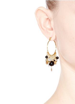 Figure View - Click To Enlarge - Venessa Arizaga - 'Shiny Happy People' hoop earrings