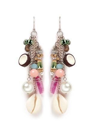 Main View - Click To Enlarge - Venessa Arizaga - 'Sea Fairy' drop earrings