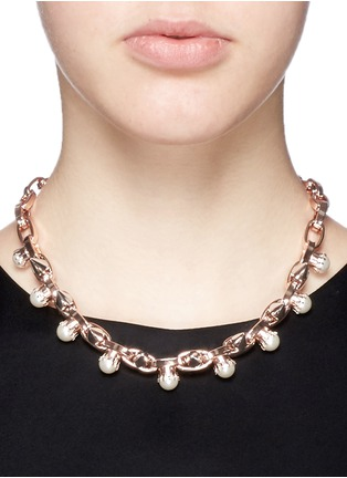 Figure View - Click To Enlarge - Joomi Lim - 'Lady Rebel' faux pearl spike necklace