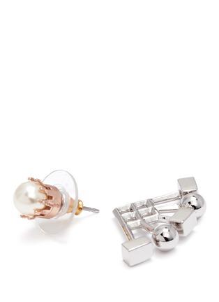 Detail View - Click To Enlarge - Joomi Lim - 'Lady Rebel' sphere cube ear deco earrings