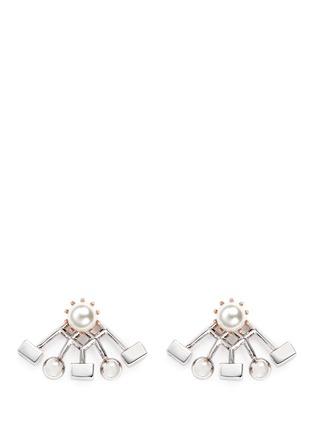 Main View - Click To Enlarge - Joomi Lim - 'Lady Rebel' sphere cube ear deco earrings