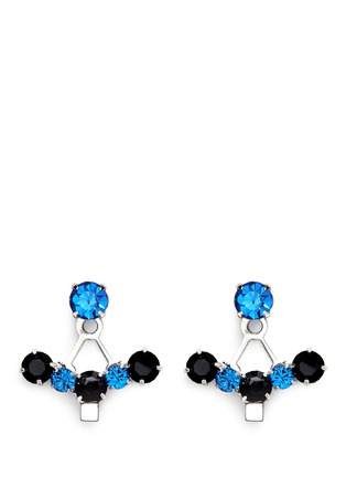Main View - Click To Enlarge - Joomi Lim - 'Pixel Perfect' cube crystal ear deco earrings