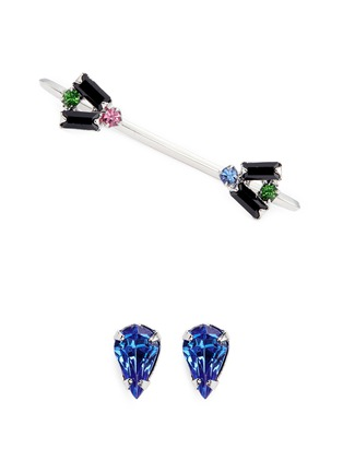 Main View - Click To Enlarge - Joomi Lim - 'Pixel Perfect' crystal stud and cuff earring set