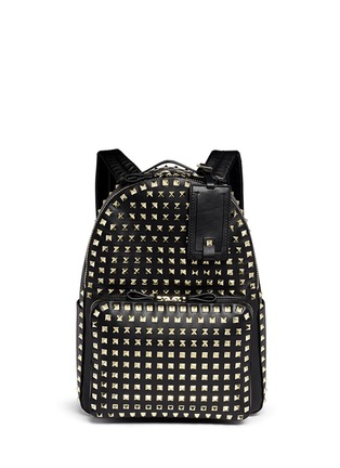 Main View - Click To Enlarge - Valentino - 'Rockstud' medium stud leather backpack