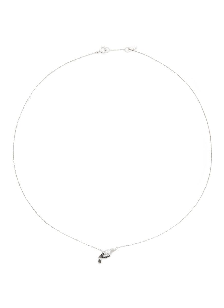 Little Brush' 18k gold diamond necklace