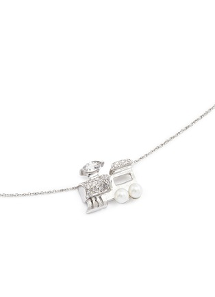 Figure View - Click To Enlarge - Bao Bao Wan - 'Little Train' 18k gold diamond pearl necklace