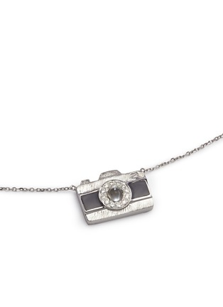 Figure View - Click To Enlarge - Bao Bao Wan - 'Little Camera' 18k gold diamond moonstone necklace