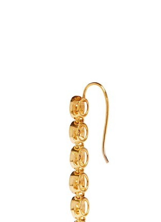 Detail View - Click To Enlarge - Aishwarya - Mounted diamond gold alloy drop earrings