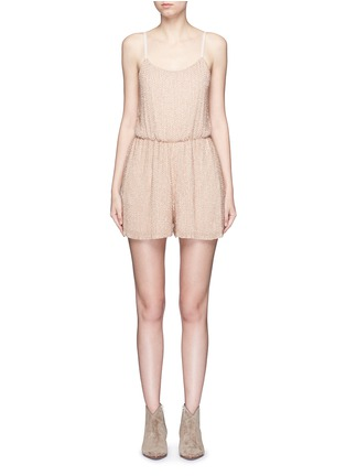 Main View - Click To Enlarge - alice + olivia - 'Mika' bead embellished silk romper