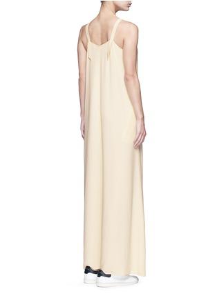Back View - Click To Enlarge - Helmut Lang - V-neck crepe maxi dress