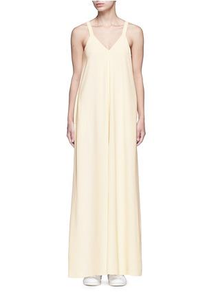 Main View - Click To Enlarge - Helmut Lang - V-neck crepe maxi dress