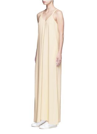 Figure View - Click To Enlarge - Helmut Lang - V-neck crepe maxi dress