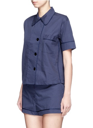 Figure View - Click To Enlarge - Araks - Shelby' polka dot cotton pyjama top