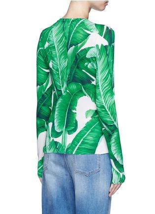 Back View - Click To Enlarge - Dolce & Gabbana - Banana leaf print silk cardigan