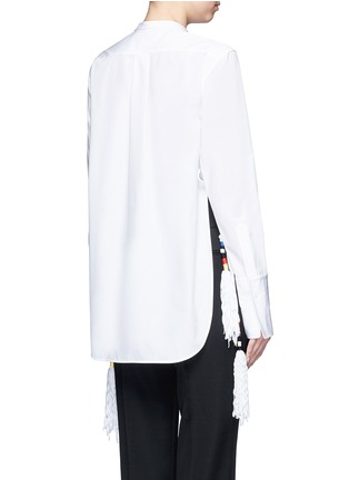 Back View - Click To Enlarge - Ports 1961 - Tassel side poplin shirt