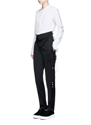 Figure View - Click To Enlarge - Ports 1961 - Tassel side poplin shirt