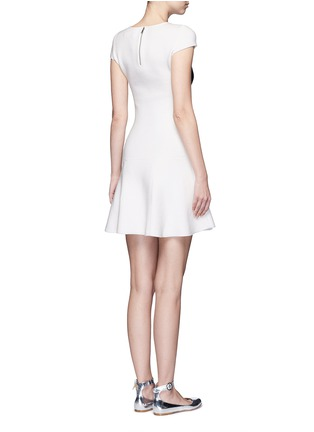 Back View - Click To Enlarge - ALICE + OLIVIA - 'Stacey's Face' intarsia crystal embellished knit dress