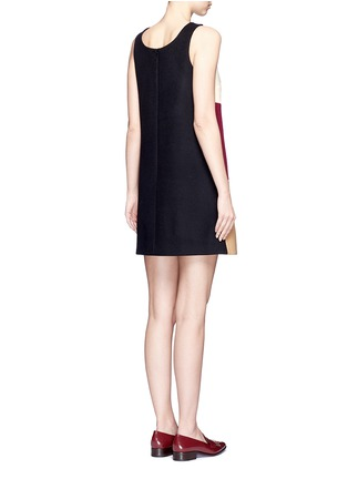 Back View - Click To Enlarge - Stella McCartney - Varsity badge colourblock shift dress