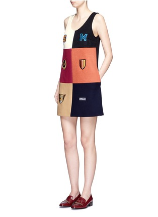 Figure View - Click To Enlarge - Stella McCartney - Varsity badge colourblock shift dress