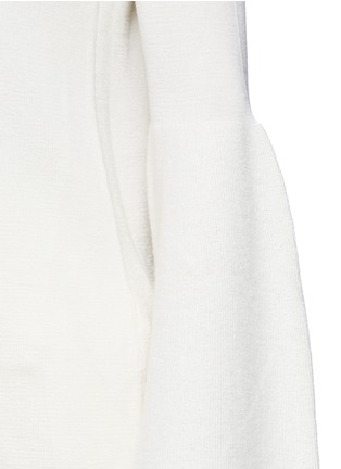 Detail View - Click To Enlarge - The Row - 'Darcy' bell sleeve cashmere-silk sweater