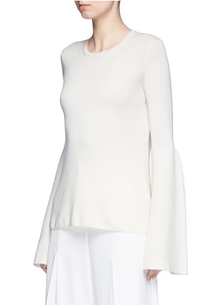 Front View - Click To Enlarge - The Row - 'Darcy' bell sleeve cashmere-silk sweater