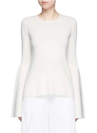 Main View - Click To Enlarge - The Row - 'Darcy' bell sleeve cashmere-silk sweater