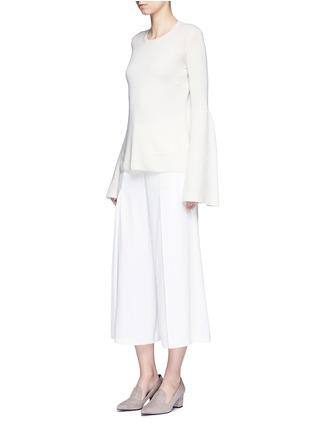 Figure View - Click To Enlarge - The Row - 'Darcy' bell sleeve cashmere-silk sweater