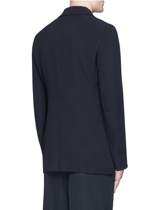 Back View - Click To Enlarge - Alexander McQueen - Waxed floral embroidery crepe blazer