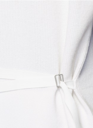 Detail View - Click To Enlarge - Helmut Lang - Belted V-neck cotton-cashmere sweater