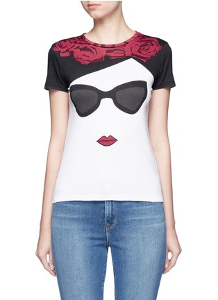 Main View - Click To Enlarge - alice + olivia - 'Stace Face Frida' print T-shirt