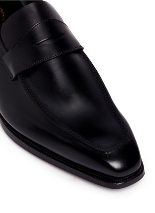 Detail View - Click To Enlarge - George Cleverley - 'George' leather penny loafers