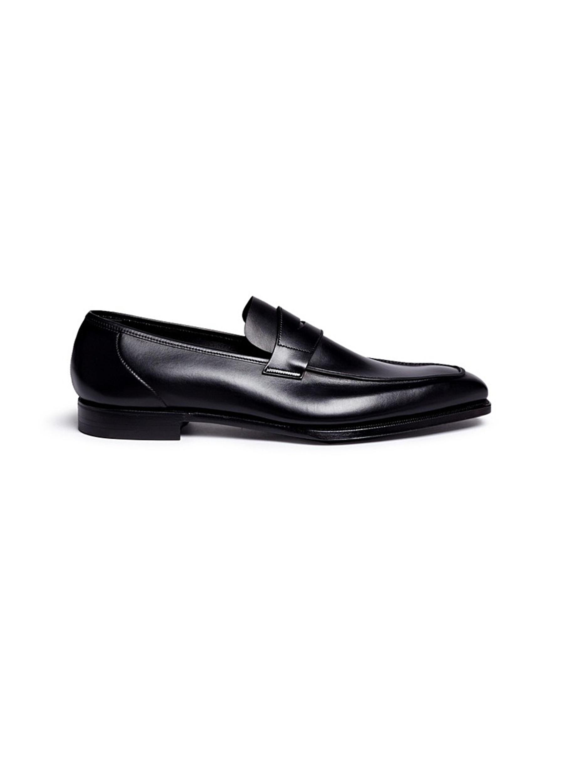 George leather penny loafers by George Cleverley