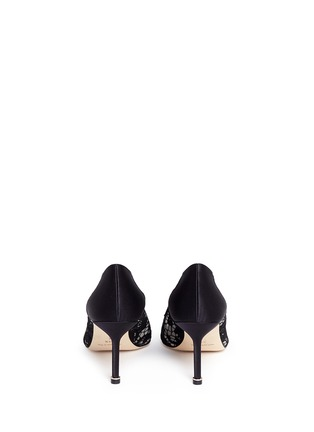 Back View - Click To Enlarge - Manolo Blahnik - 'Hangisila' crystal jewel lace pumps