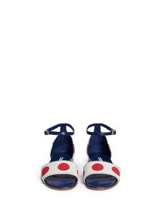 Front View - Click To Enlarge - Manolo Blahnik - 'Laura' dot print canvas sandals