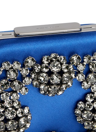 Detail View - Click To Enlarge - Manolo Blahnik - 'Hangi' Swarovski crystal satin box clutch