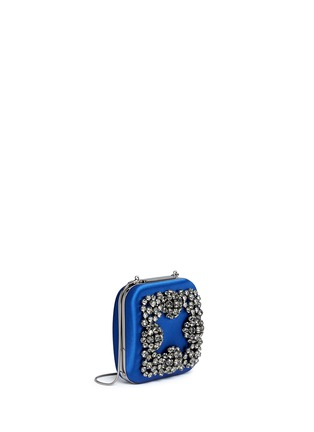 Figure View - Click To Enlarge - Manolo Blahnik - 'Hangi' Swarovski crystal satin box clutch
