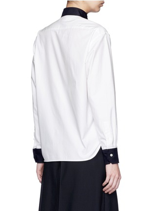 Back View - Click To Enlarge - Hyke - Triangle collar cotton shirt