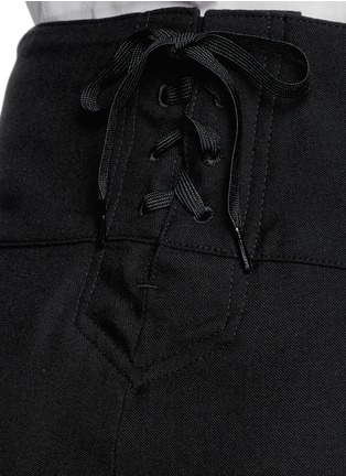 Detail View - Click To Enlarge - Hyke - Foldover front wide leg pants