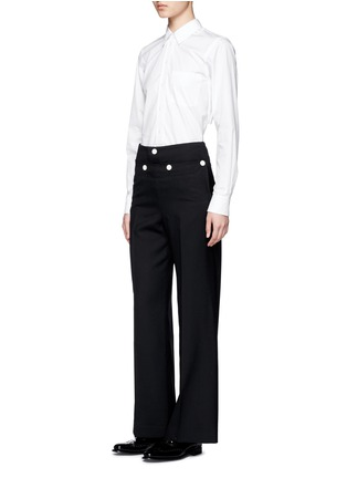 Figure View - Click To Enlarge - Hyke - Foldover front wide leg pants