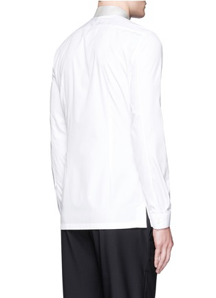 Back View - Click To Enlarge - Balenciaga - Contrast collar cotton poplin shirt
