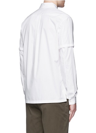 Back View - Click To Enlarge - Balenciaga - Detachable sleeve cotton poplin shirt