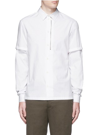 Main View - Click To Enlarge - Balenciaga - Detachable sleeve cotton poplin shirt