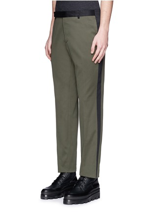 Front View - Click To Enlarge - Balenciaga - Side stripe washed cotton pants