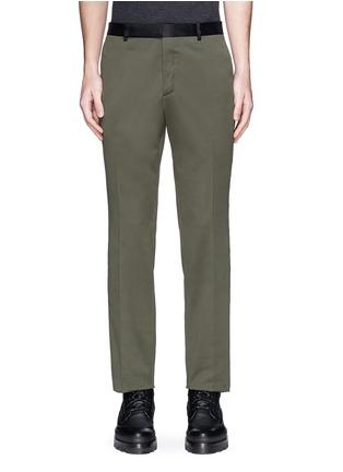 Main View - Click To Enlarge - Balenciaga - Side stripe washed cotton pants