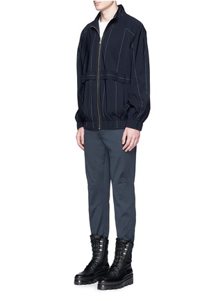 Figure View - Click To Enlarge - Balenciaga - Reinforced knee washed cotton pants