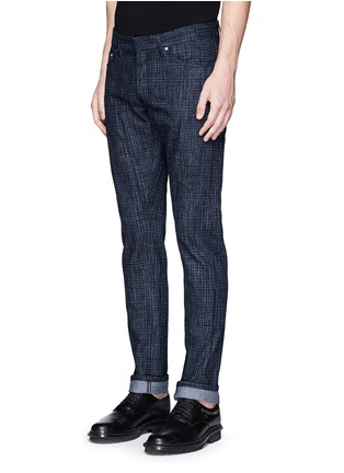 Front View - Click To Enlarge - Balenciaga - Crosshatch print jeans